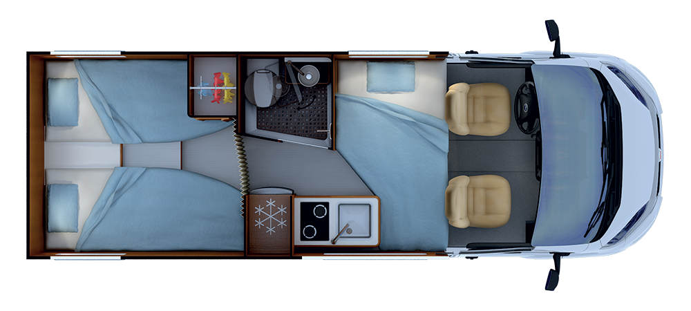 Night layout RAPIDO V68